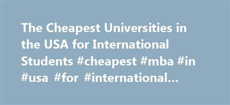 Top 25 Mba Colleges In Usa by 25 Best Ideas About Financial Assistance On