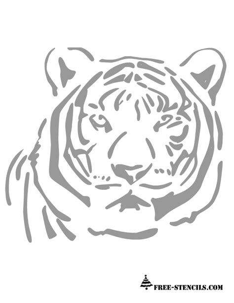 Free Printable Tiger Stencil Free Stencil Templates