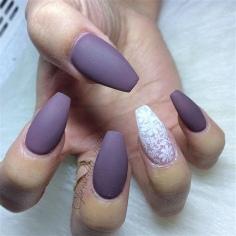 matte purple nail best 25 purple acrylic nails ideas on matte
