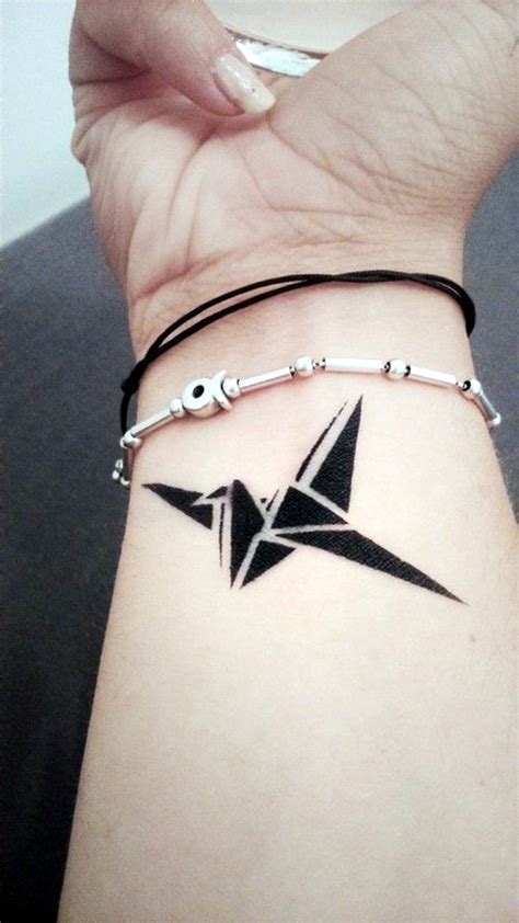 paper crane tattoo 40 lovely origami designs in trend