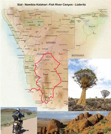 Motorradtouren Namibia by Motorradtour Namibia Kalahari Fish River Canyon