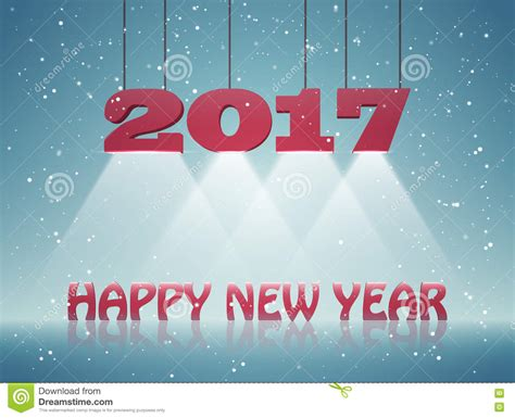 new year design card happy new year 2017 greeting card design for you stock
