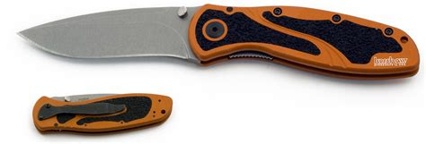 kershaw blur assisted 3 3 8 quot stonewash blade burnt orange