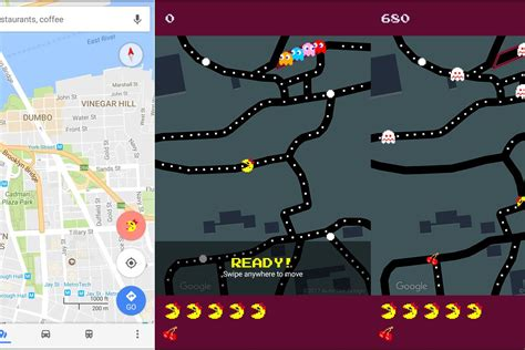 imagenes google maps 2017 google maps morphs into ms pac man for april fools day