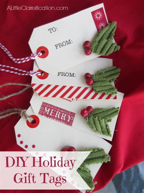 the holidays at home handmade holiday gift tags sweater