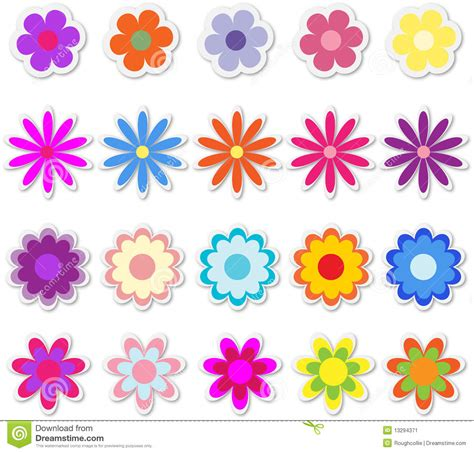 Aufkleber Blumen by Flowers On Stickers Stock Vector Image Of Illustration