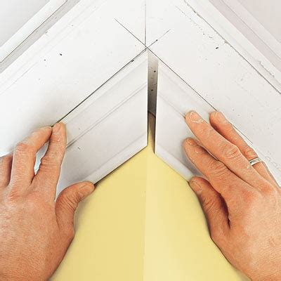 How To Cut Crown Molding Outside Corners For Cabinets by Cut And Install The Moldings How To Install Three