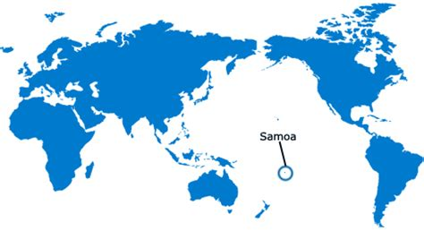 location of samoa on world map samoa islands map world