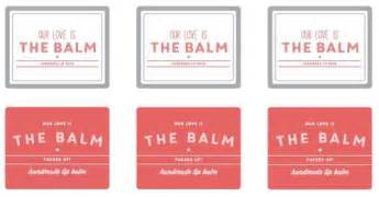 our love is the balm pucker up lip balm labels printable