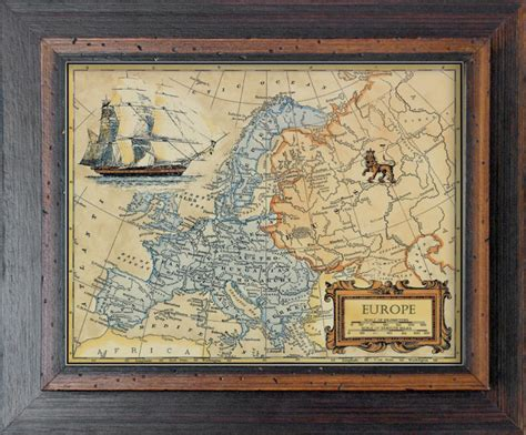Decorative Wall Maps by Vannodee Classical Decorative Wall Wood Frame Painting