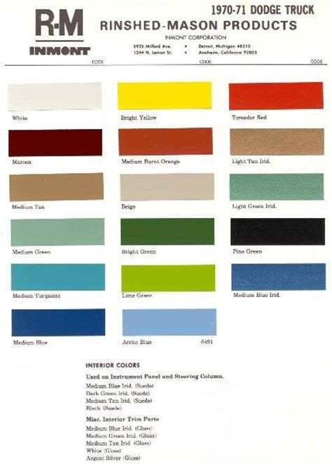 dodge truck paint colors autos post