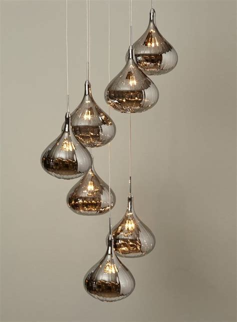 smoked cluster pendants ceiling lights lighting