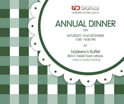 design dinner invitation card arfa technologies a design house lahore pakistan print