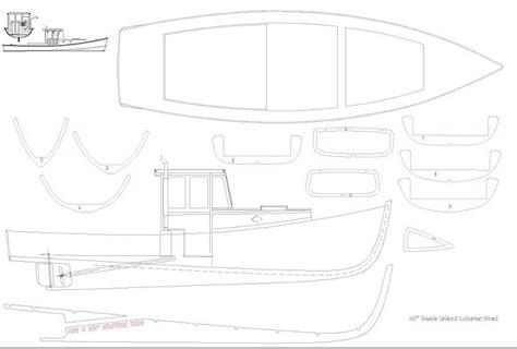 lobster boat designs plans lobster boat plans aerofred download free model