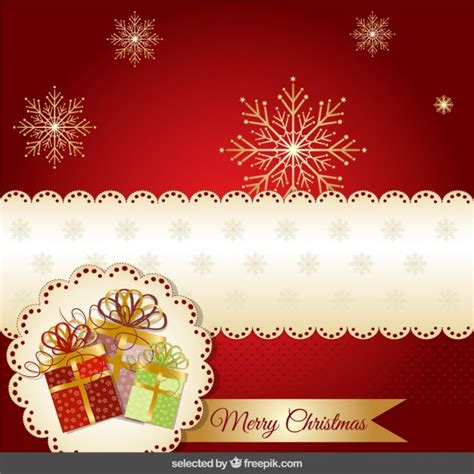 imagenes navidad modernas tarjeta roja moderna de navidad descargar vectores gratis