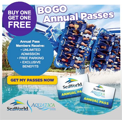 theme park yearly pass seaworld offers bogo annual passes to orlando theme park