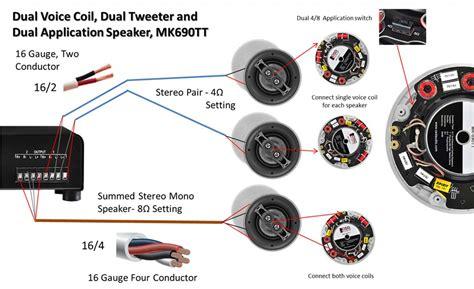 car speakers dual voice coil wiring diagram get free