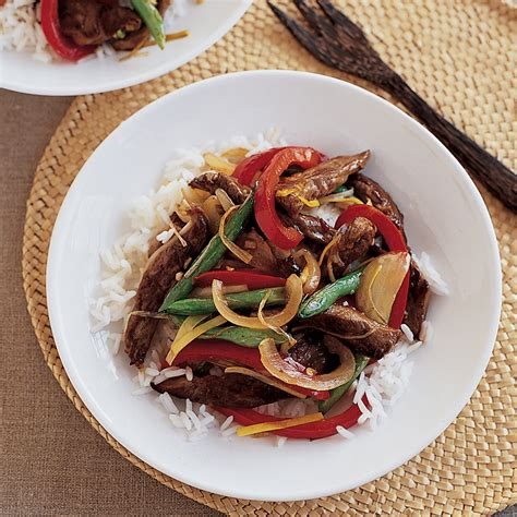 Todays Special Stir Fried Peking With Peppers And Green Beans stir fried peking with peppers and green beans recipe