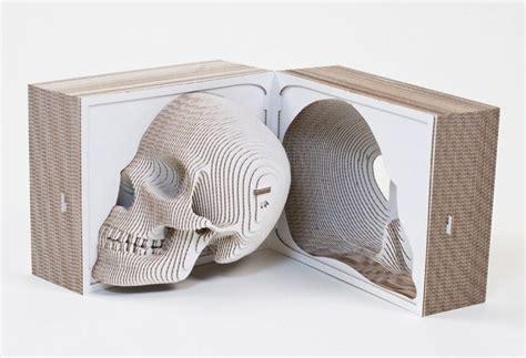 Material Feature Laser Cut Cardboard Laser Cut Skull Template