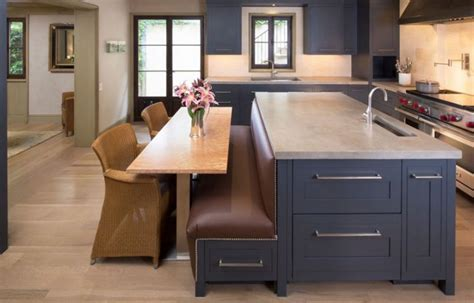 functional kitchen islands  built  seating