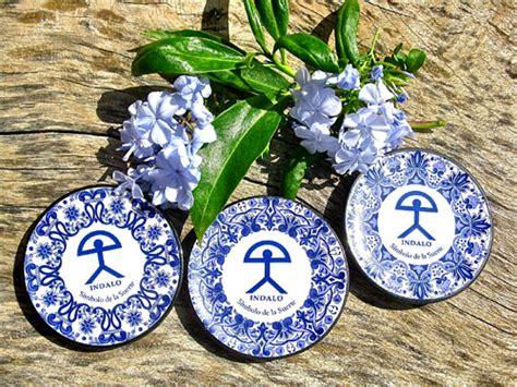 Indalo Almeria, good luck symbol, magic spell souvenir of Mojacar Spain, and jewellery gift ceramics