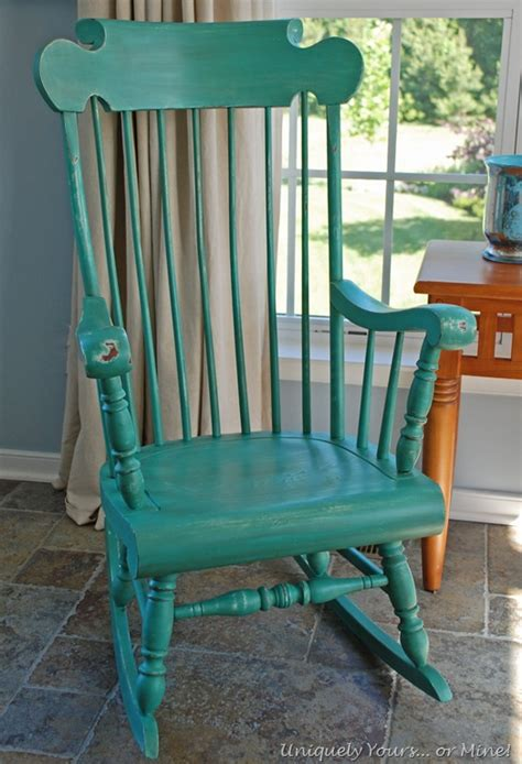 chalk paint rocking chair rocking chair makeover uniquely yours or mine