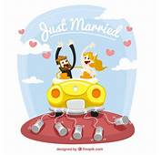 Just Married Illustration Vector  Free Download