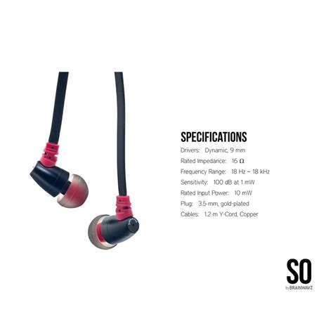 Brainwavz S0 Zero Earphones Brainwavz S0 Zero Earphones Black Jakartanotebook