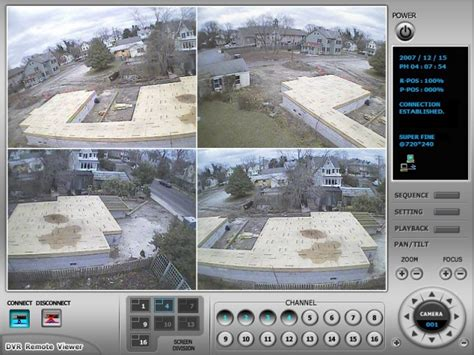 construction site surveillance system remote dvr viewer
