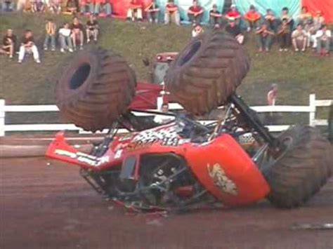 monster truck crashes video youtube video brutus monster truck crash youtube