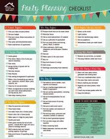 Frugal Home Decor Printable Party Planning Checklist
