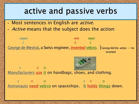 verb pattern in active and passive sentences ppt verb tense review past present future