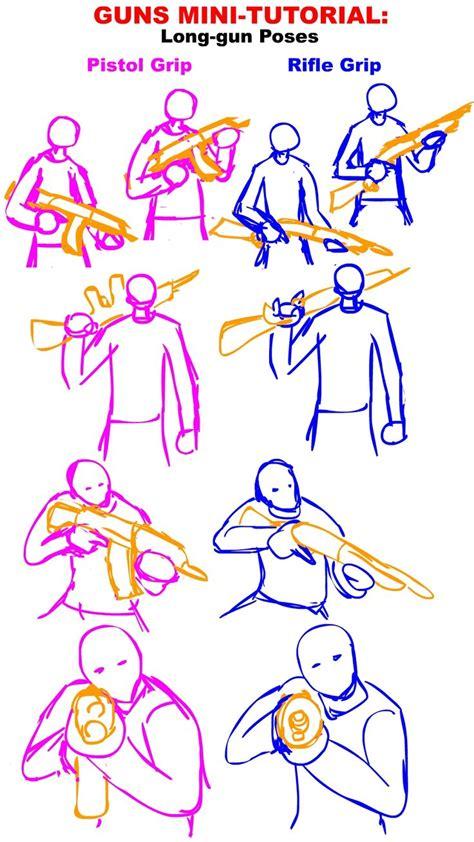 38 Best Images About Tutorial On Pinterest Pistols | guns tutorial long gun poses by phitus on deviantart
