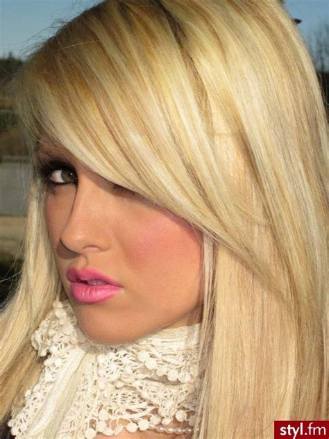 blonde hairstyles side fringe side bangs with blonde hair ashley ha pinterest long