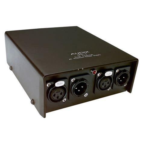 alimentatore phantom audix aps2 due canale alimentatore phantom a gear4music