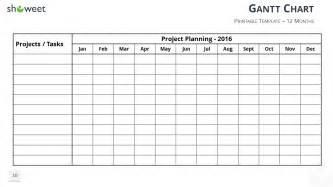 blank gantt chart template diagrammes de gantt et calendrier de projets pour powerpoint
