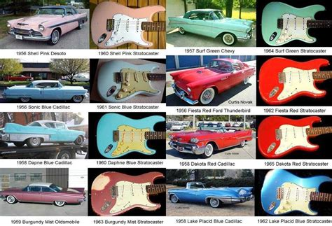 fender guitar colors seen this nitrocellulose car paint colours of the 50s and
