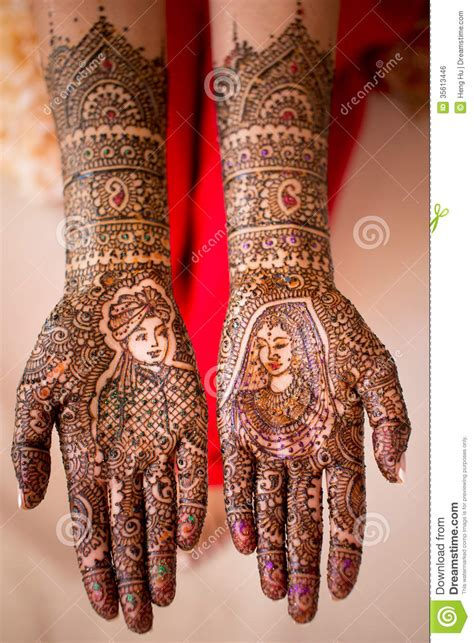 henna hand paint stock photo image of hindu henna