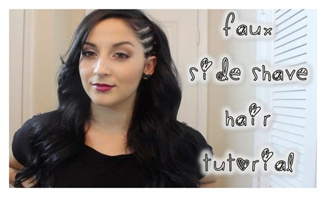 one side shaved hairdo tutorials faux side shave hair tutorial youtube