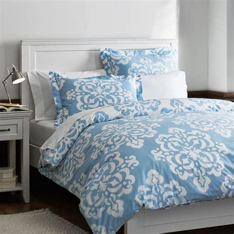 Ikat Comforter by Ikat Medallion Duvet Cover Sham Sky Blue Pbteen