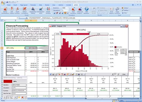 Monte Carlo Simulation Excel Template by Risk For Excel Tp Analytics Store