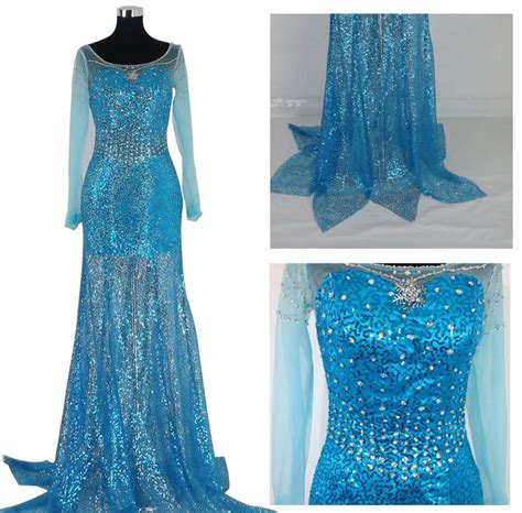 Handmade Elsa Dress - j716 frozen snow elsa costume dress tailor