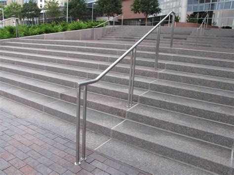 Exterior Stair Handrails Create Unique Metal Handrailings With