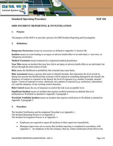 Incident Investigation Procedure Flowchart Cheapsalecode Investigation Procedure Template