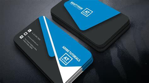 design grafis business card tutorial corporate business card design adobe