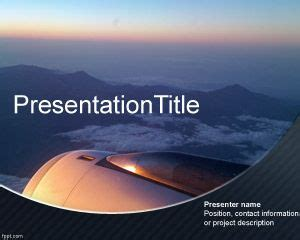 Aviation Powerpoint Templates by Free Aircraft Powerpoint Template