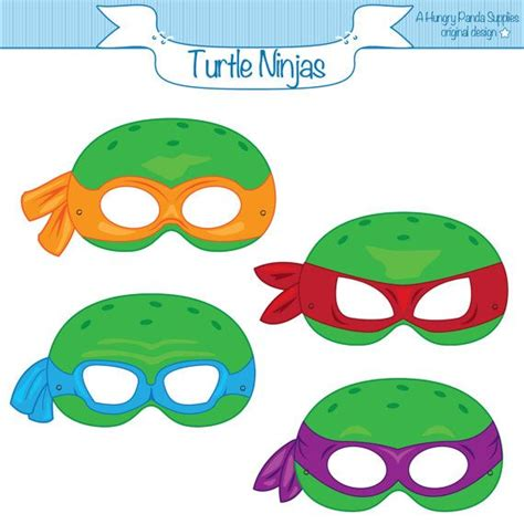 printable ninja mask turtle ninja printable party masks