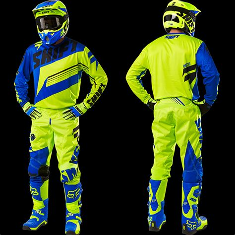 shift motocross gear 2016 shift assault gear combo hi vis blue pro style mx