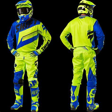 shift motocross gear 2016 shift assault gear combo hi vis blue pro style mx
