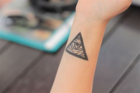 all seeing eye wrist tattoo all seeing eye triangle on wrist ideas